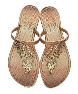 a35f8e8b896f6 Butterfly gold-tone cut-out flip flops Sale - Grendha Sale. Find this Pin  and more ...