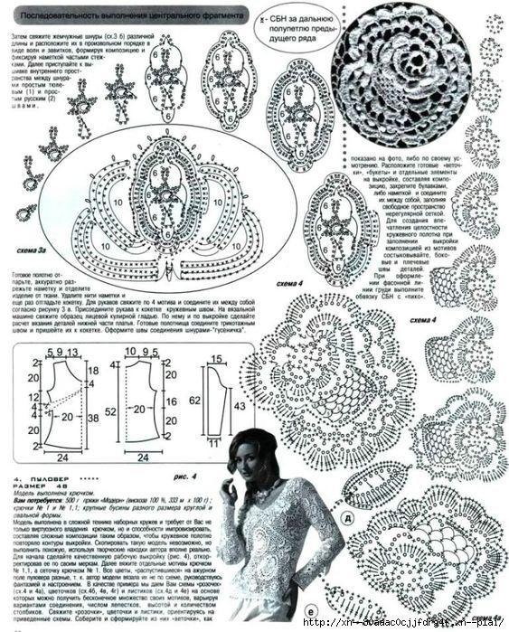 irish crochet roses
