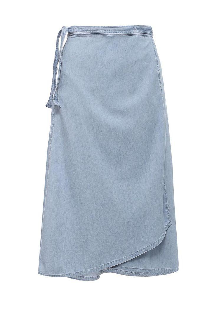 Расклешенная юбка Gap с запАхом выполнена из мягкого текстиля шамбре. Детали: пришитый пояс.