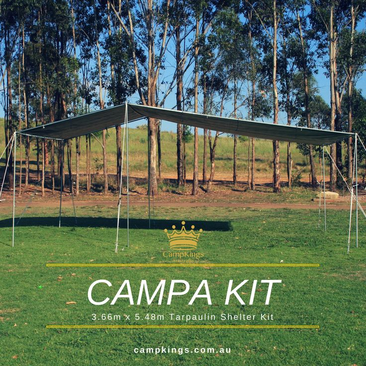CAMPA KIT comes with easy instructions for 1 person set up