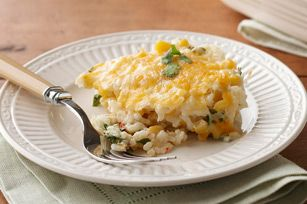 Looking for comfort food? We've got you covered with this Cheesy Rice & Corn Casserole recipe.