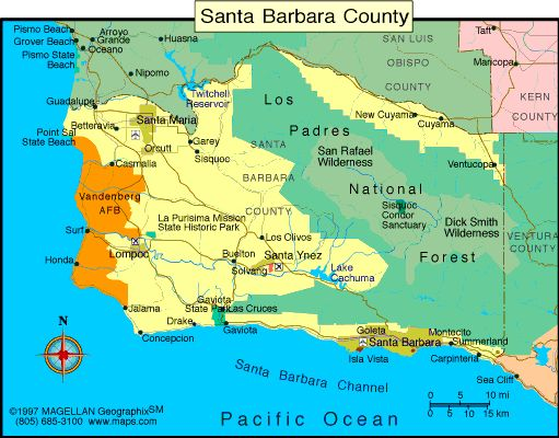 google maps santa barbara california california map