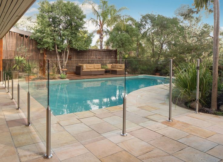 Semi frameless, stainless steel and DIY glass pool fencing by Everton
