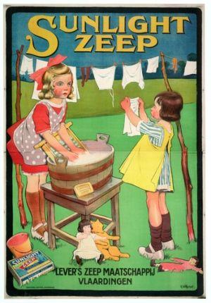 De verleiding die reclame heet -  Sunlight zeep (ca. 1920), G. Wildschut. Afbeelding uit besproken boek