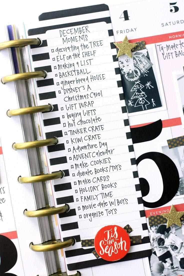 December memories in The Happy Planner™ of mambi Design Team member April Orr | me & my BIG ideas