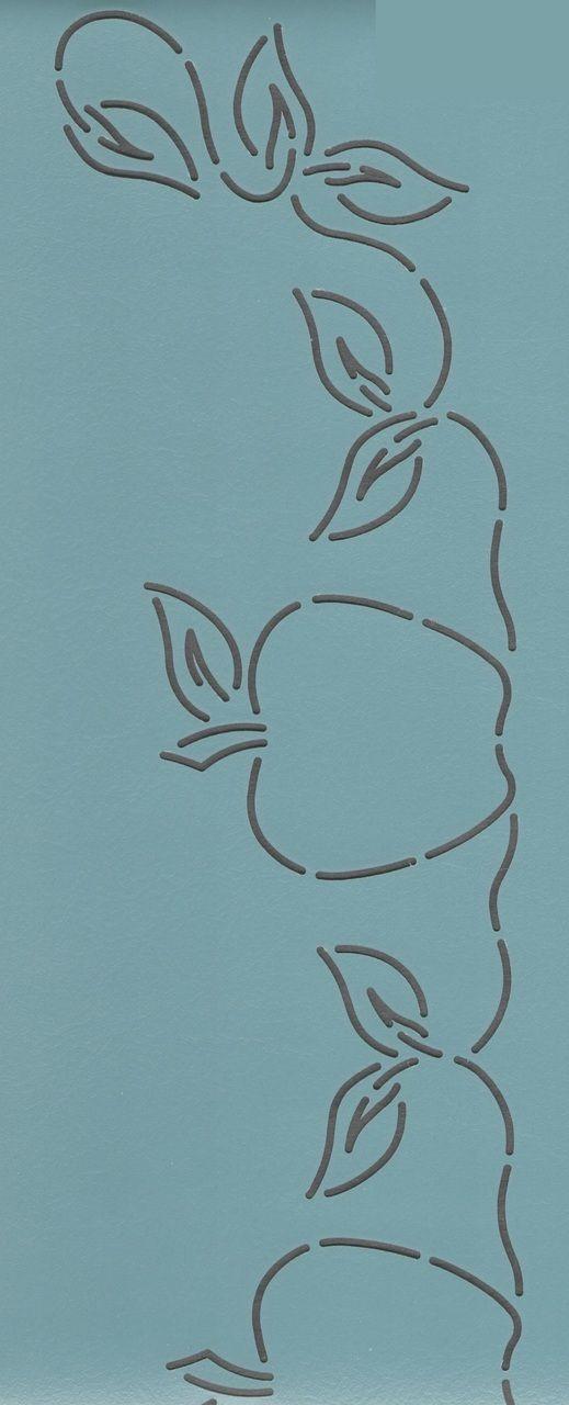 """Apple Border 3"""" - The Stencil Company"""