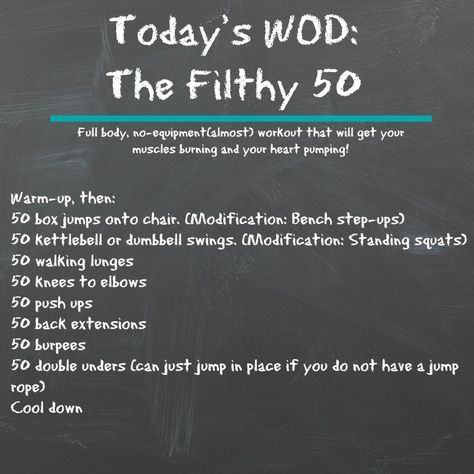 Full body, almost no equipment, at home crossfit workout to get your muscles burning and your heart pumping!