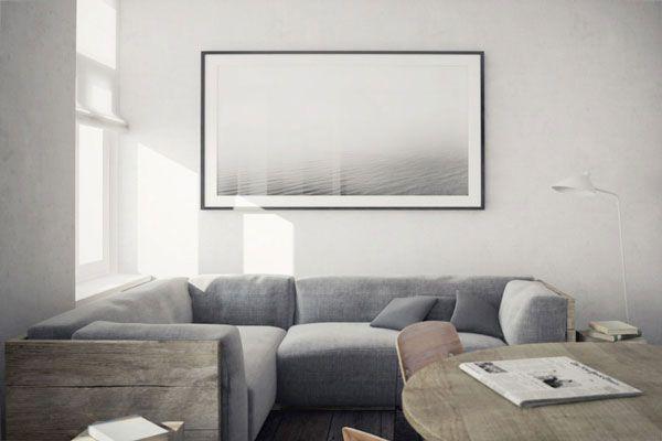 living roomGrey Couch, Living Rooms, Minimalist Apartment, Livingroom, Interiors Design, House, Nicolas Schuybroek, Rustic Wood, Sofas