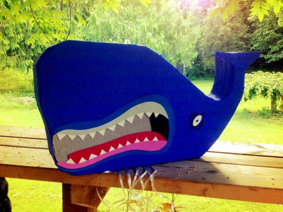 Killer Whale Pinata for Pinocchio themed party by PleasantlyPinatas on Etsy, $34.99