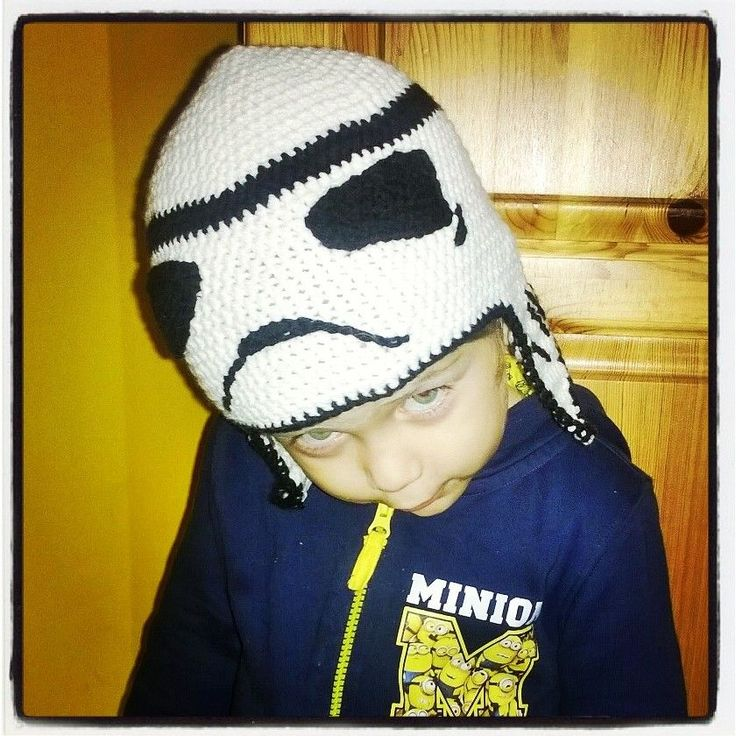 crochet storm trooper hat