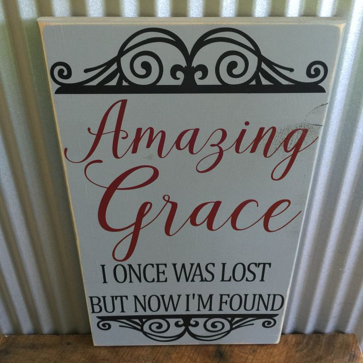 Amazing Grace Wall Decor 107 best wood signs images on pinterest | numb, knots and wood signs
