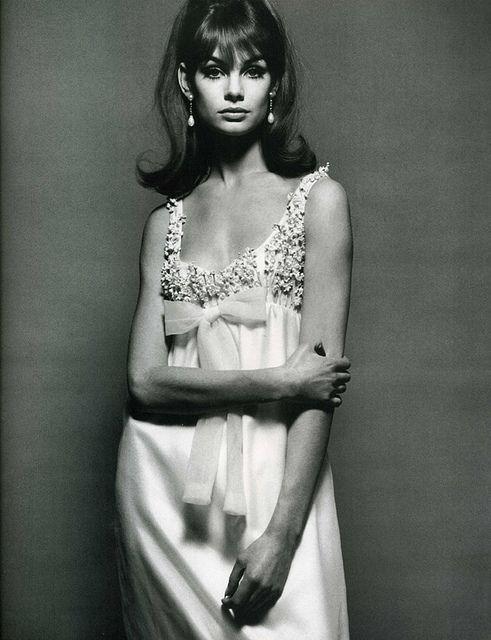 Model Jean Shrimpton wearing Nina Ricci.Vogue,December 1964