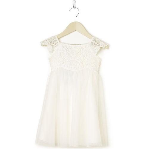 white lace baby dress