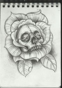 drawing tattoo rose tattoo skull tattoo tattoo sketch skull and bones skull and roses tattoo ideea