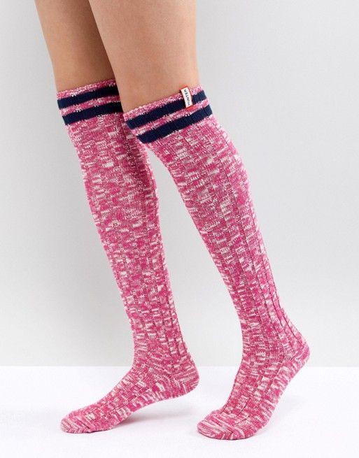 7075a2ebc8e Hunter Original Pink Knee High Boot Socks