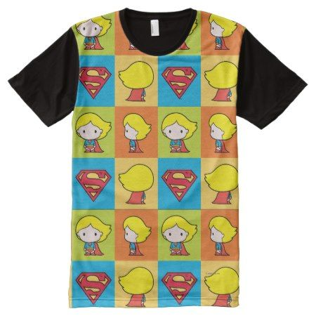 Chibi Supergirl Character Turnaround All-Over-Print Shirt - click to get yours right now!