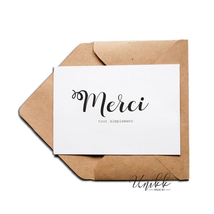 Carte - Merci tout simplement | Carte postale, carte de voeux, carte cadeau, carte anniversaire ...