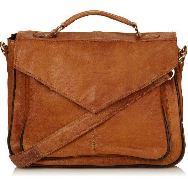TOPSHOP Vintage Leather Satchel ($130) ❤ liked on Polyvore - sac à main - sac en cuir