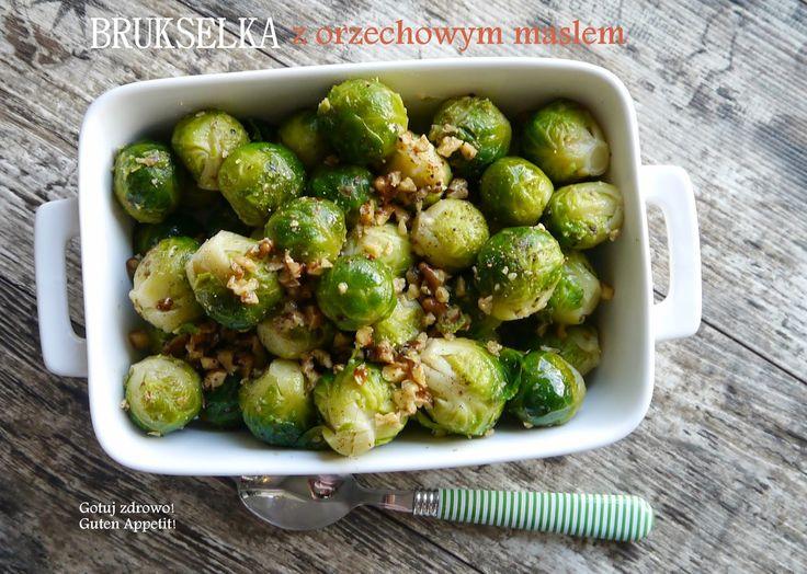 Gotuj zdrowo!Guten Appetit!: Brukselka z masłem orzechowym