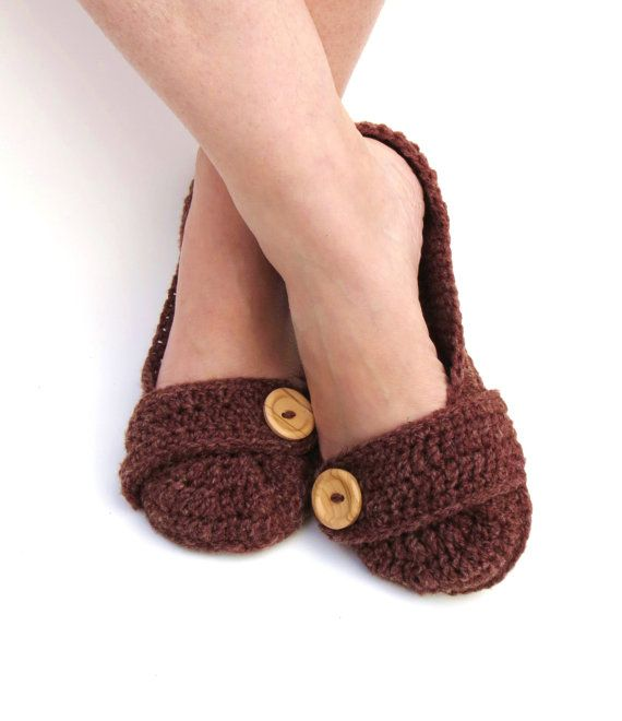 MADE TO ORDER Wool House Slippers Crochet by StoneyCreekKnitters, $28.00