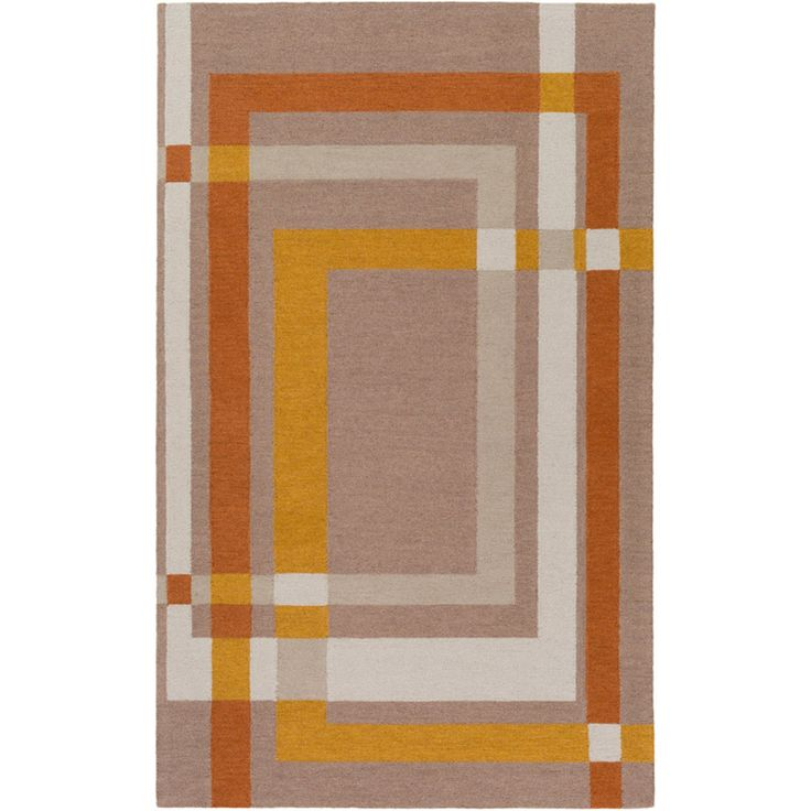 Surya Emma Gardner Kismet Hand Tufted Indoor Area Rug Cream Blue Orange Yellow Size 2 X 3 Ft Area Rugs Beige Area Rugs Area Rug Sizes
