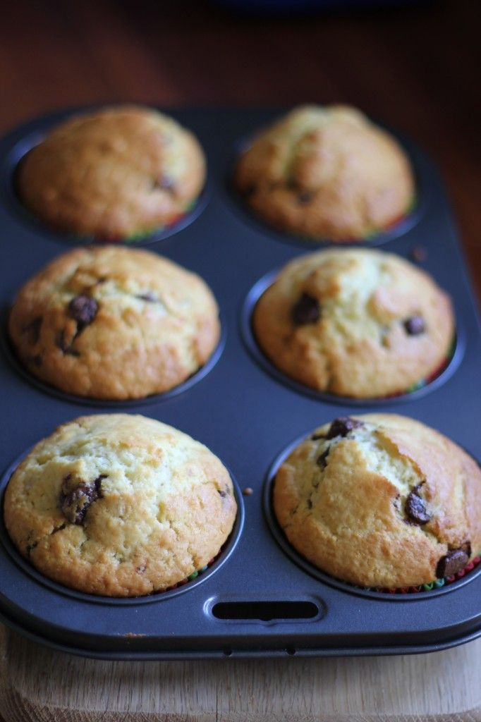 Delicious lemon, pear & choc chip muffins, in memory of a friend.