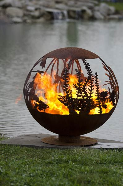 Fire Pit Gallery – Unique Custom Steel Outdoor Fire Pits: My daughter makes these fire pits.