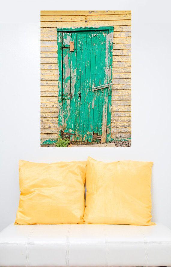 Door Photograph Old Door Art green Doors by DreamsandNotions