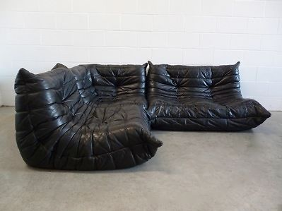 Ligne roset black leather and sofas on pinterest - Ligne roset togo cuir ...