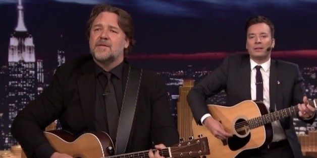 Jimmy Fallon and Russell Crowe sing for Earth Day