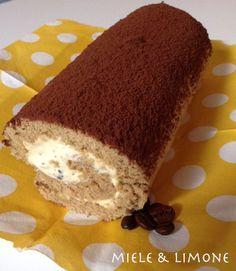 ...Tiramisù arrotolato...INGREDIENTI: (per 6-7 persone) un rotolo di Pasta biscotto al caffè (per la ricetta clicca qui) 200 gr mascarpone 1 uovo 2 cucchia