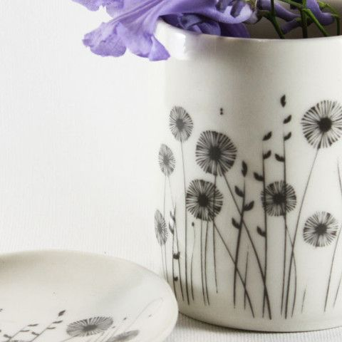 Ceramic Pot - Field of flowers | Raw Ceramics