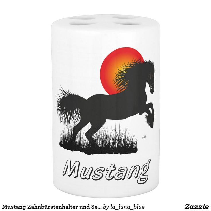 Mustang Zahnbürstenhalter und Seifenspender Set