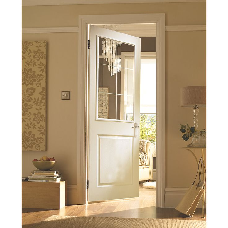 Jeld-Wen Cambridge 2-Panel Internal Glazed Door Primed 1981 x 762mm  sc 1 st  Pinterest & 10 best uPVC Style Handles images on Pinterest | Door handles Door ...