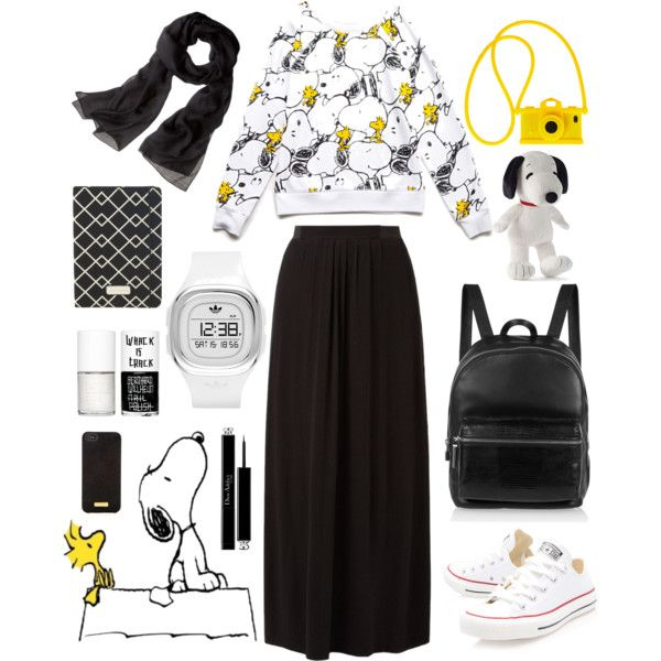 {hijab style} by amandavicha on Polyvore featuring Forever 21, Converse, Elizabeth and James, adidas Originals, Reed Krakoff, Moschino, Henri Bendel, Christian Dior and Uslu Airlines