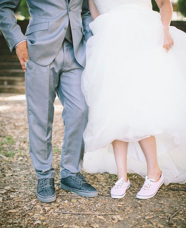 Matching Vans Shoes for Bride & Groom | Jae Photo | blog.theknot.com