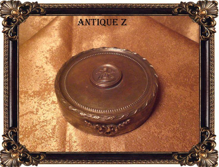 Unique!!! 19th century Masonic round brass, bronze box/cassette, Victorian, antique by AntiqueBoutiqueZ on Etsy