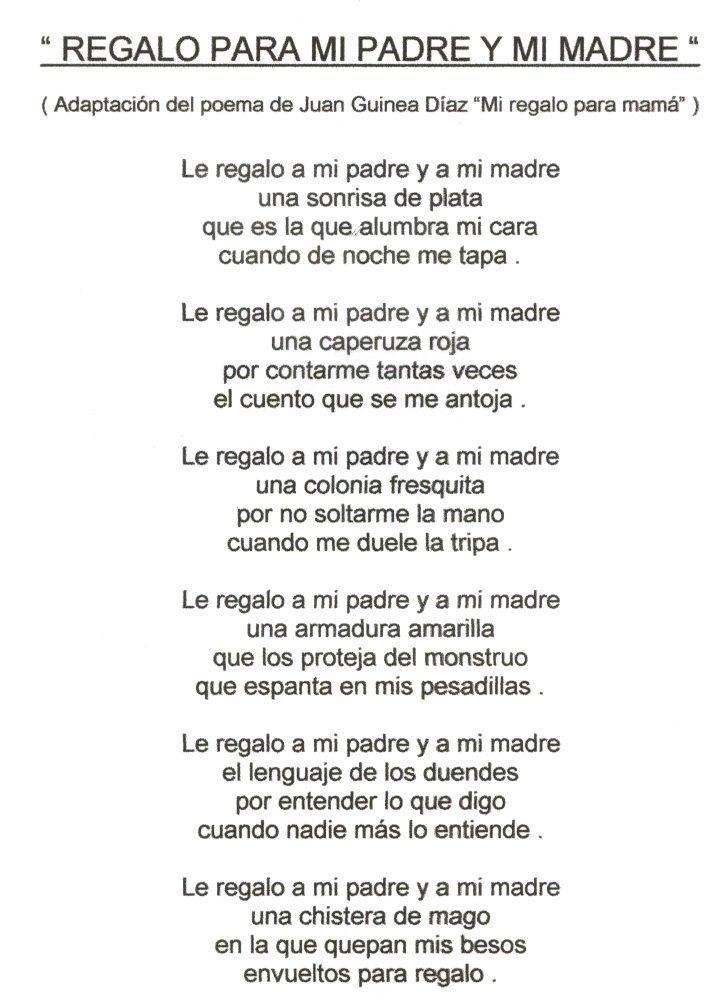 De 25 bedste id er inden for poema para mi padre p for Regalos para mi padre