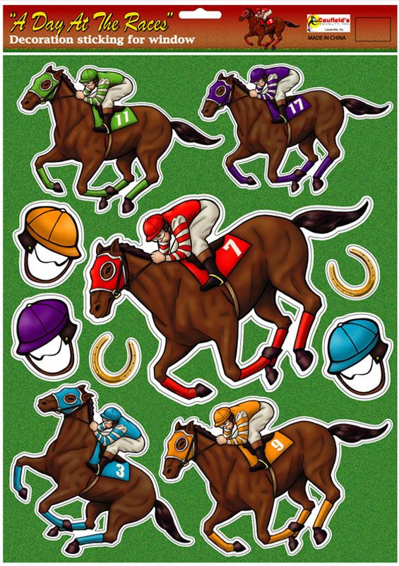 I'm selling Melbourne Cup / Hens / Bucks / Horse Racing Themed Self Stick Window Decoration! - A$8.50