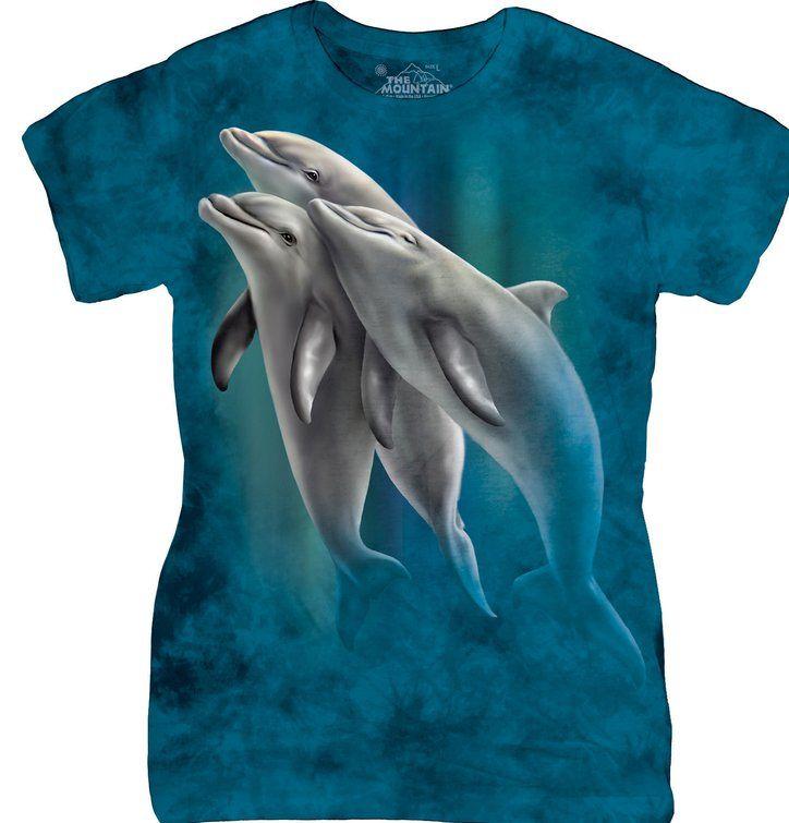 Dámske tričko Plávajúce delfíny
