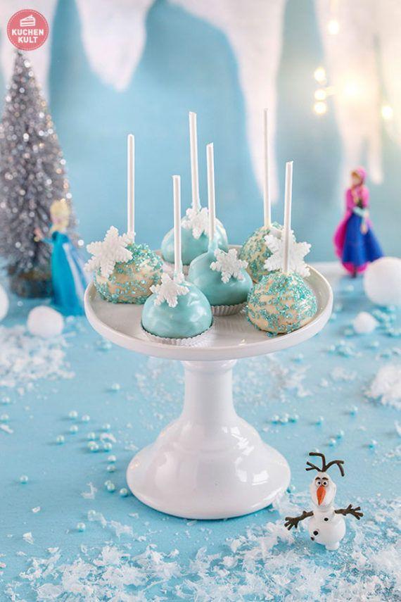 Eiskönigin Kindergeburtstag FROZEN Party mit Cake Pops aus Windbeuteln der Conditorei Coppenrath & Wiese.  Frozen Kids birthday with Cake Pops. Anna Elsa and Olaf.