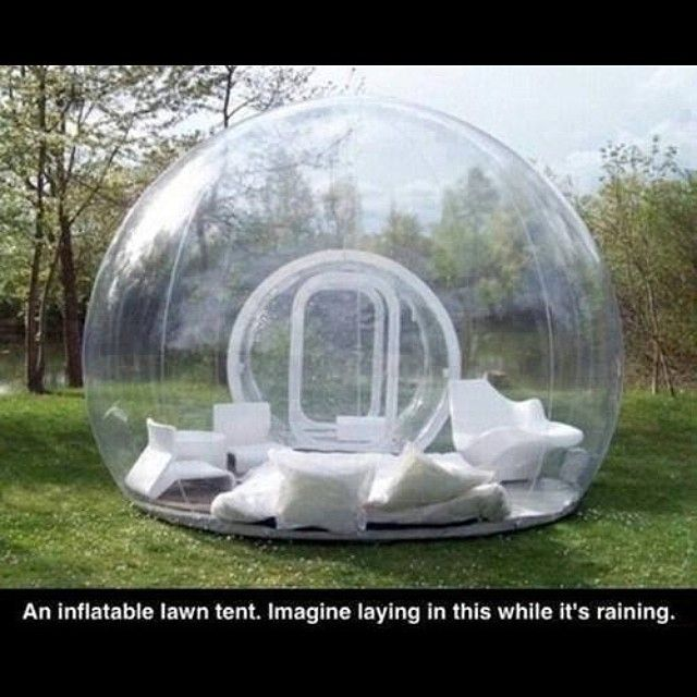 That would be so relaxing and mesmerizing. I could lay in that and watch the rain for hours.