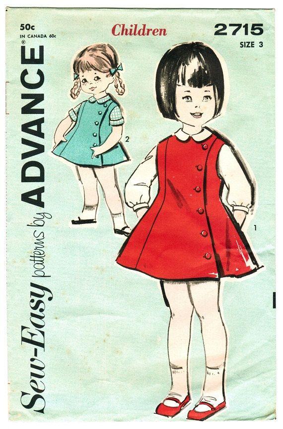 Advance 2715 Vintage 60s Mad Men Era Adorable Toddler