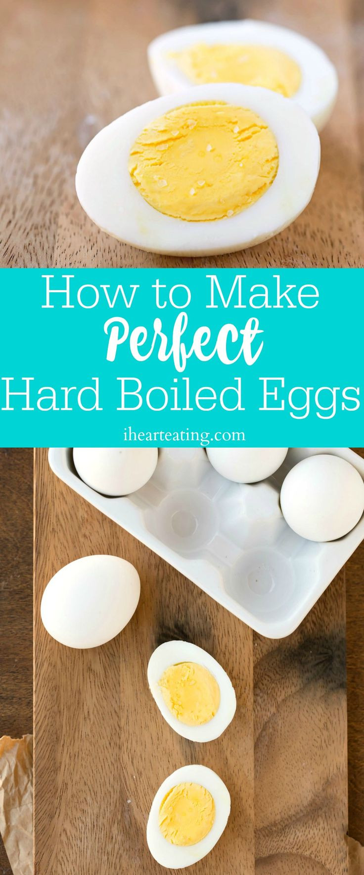How to Make Perfect Hard Boiled Eggs - easy step-by-step recipe. Great for meal prep or snacks. No more gray yolks!