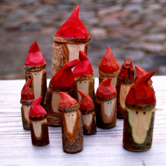Tomtes! These would be perfect little gifts paired with the legend of the tomte for family/friends!