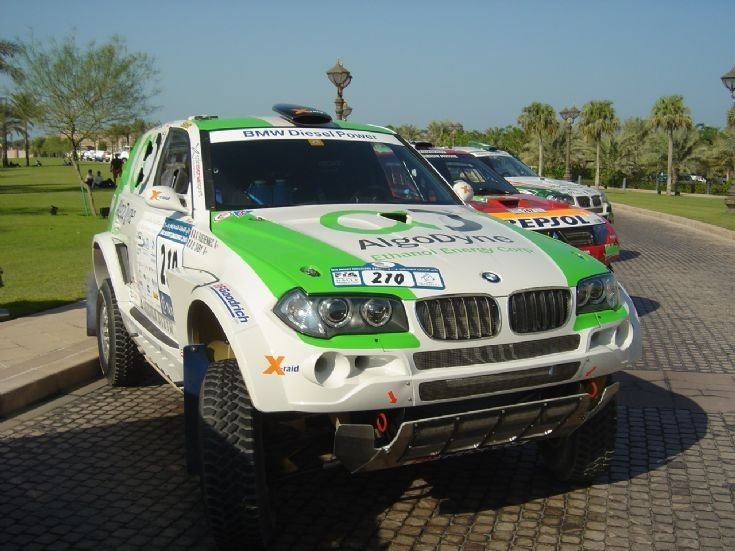 Racing Car Photos - - BMW Diesel power in Desert Rally