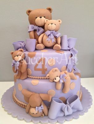 Love the lavender with the teddy bears ...