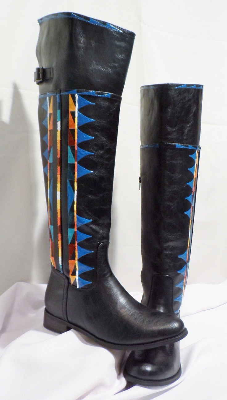 Size 9 Rez Hoofz Hand Painted RIDER Boots by Rezhoofz on ...