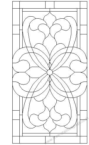 Stained glass panels provide wonderful strings for Zetangle inspired art