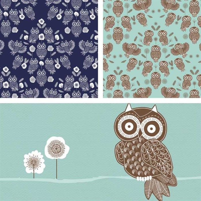 Owl Folk Collection Part 2 - Download and print this FREE collection of owl graphics and sentiments!